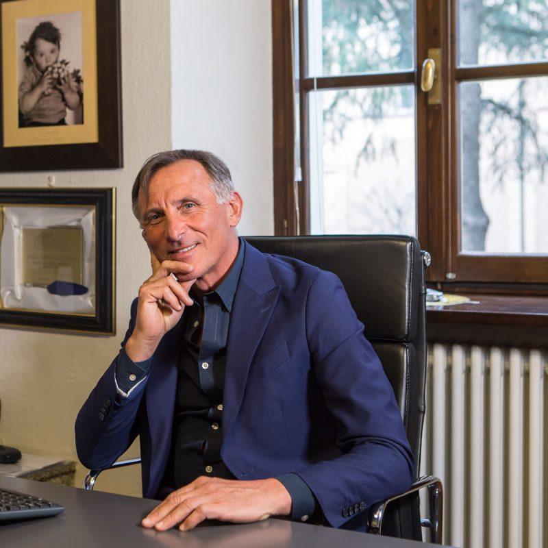 Marcello Ceci nel suo studio a Calicella – Langhirano (PR)